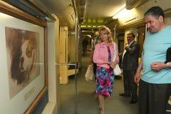Aquarelle - subway train Royalty Free Stock Photo