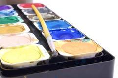 aquarelle sur le fond blanc Photographie stock