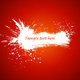 Aquarellfahne mit Platz für Ihren Text. Stockfotos