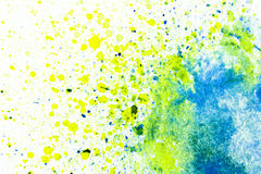 Aquarellfarbe auf Weißbuch lizenzfreies stockfoto