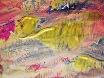 Aquarellfarbenhintergrund, bunter Farbhintergrund Stockfoto