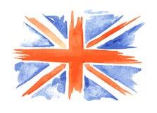 Aquarellflagge von England stock abbildung