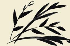 Aquarellgartenblumen lokalisiert auf weißem Hintergrund, Vektorillustration der japanischen Art Lizenzfreie Stockfotografie
