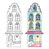 Aquarellgebäude Stockbilder