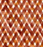 Aquarellgingham von dunklen Kaffeefarben auf weißem Hintergrund Nahtloses Muster für Gewebe Lizenzfreie Stockbilder