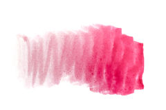 Aquarellhintergrund Cerisefarbe Stockfotos