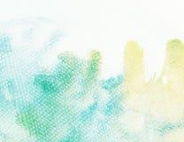 Aquarellhintergrund mit undichter Farbe Stockfotografie