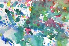 Aquarellhintergrundillustration befleckt und f?llt auf einen wei?en Hintergrund stock abbildung