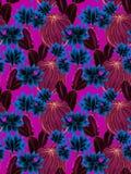 Aquarellkaktusillustration, nahtloses Muster Stockfoto