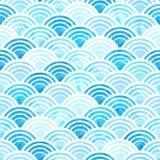 Aquarellkreismuster Stockbilder