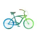 Aquarellkreuzer-Fahrradschattenbild Lizenzfreie Stockbilder