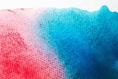 Aquarellkunst-Handfarbe auf weißem Aquarellbeschaffenheitshintergrund stockfoto