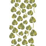 Aquarelllilienblumen-Blattmuster Stockfotografie