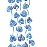 Aquarelllilienblumen-Blattmuster Lizenzfreies Stockfoto