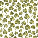 Aquarelllilienblumen-Blattmuster Lizenzfreies Stockbild