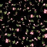 Aquarellmalerei des Blattes und der Blumen, nahtloses Muster Lizenzfreies Stockfoto