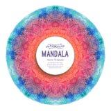 Aquarellmandala Dekor für Ihr Design stock abbildung