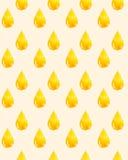 Aquarellmuster mit einem goldenen Tropfen des Öls Lizenzfreie Stockfotos