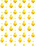 Aquarellmuster mit einem goldenen Tropfen des Öls Stockbild