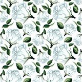 Aquarellnahtloses Blumenmuster Lizenzfreies Stockfoto