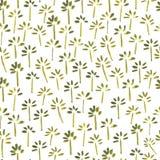 Aquarellnahtloses Blumenmuster Stockfoto