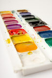 Aquarellpalette Stockbilder