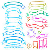 Aquarellsatz Bänder Lizenzfreies Stockbild
