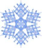 Aquarellschneeflocke auf weißem Hintergrund Stockfoto
