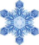 Aquarellschneeflocke auf weißem Hintergrund Lizenzfreies Stockbild