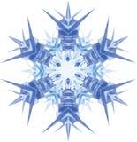 Aquarellschneeflocke auf weißem Hintergrund Lizenzfreie Stockbilder