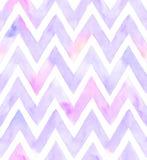 Aquarellsparren der purpurroten Farbe mit weißem Hintergrund Nahtloses Muster für Gewebe Stockbilder