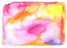 Aquarellstellen-Zusammenfassungshintergrund Stockbild
