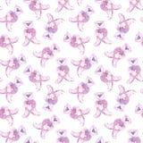 Aquarellteddybär Handgemaltes nahtloses Muster für Babygewebe Lizenzfreies Stockfoto
