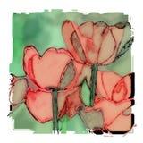 Aquarelltulpen-Blumenillustration vektor abbildung