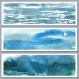 Aquarellvektor-Zusammenfassungshintergrund Stockfotos