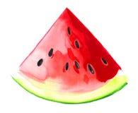 Aquarellwassermelone stock abbildung