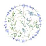 Aquarellweinlese-Blumenzusammensetzung Stockfoto