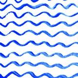 Aquarellwellenhintergrund Stockfotos