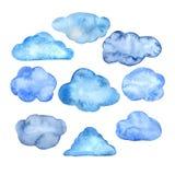 Aquarellwolken eingestellt