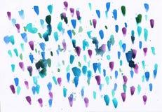 Aquarellzusammenfassungshintergrund mit Mehrfarbenpunkten und Flecken stock abbildung