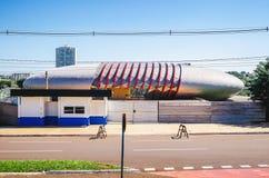 Aquario的未完成的建筑做潘塔纳尔湿地 库存图片