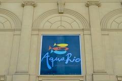 AquaRio, inaugurujący w 2016 jest wielkim akwarium w Ameryka Południowa przy 26.000 metrami kwadratowymi Obraz Royalty Free