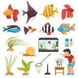 Aquaristics Aquarium Fish Set Royalty Free Stock Photo