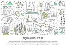 Aquarium care elements Stock Image