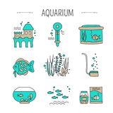 Aquarium care set Royalty Free Stock Photos