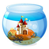An aquarium with a castle Stock Image