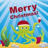 Aquarium christmas Royalty Free Stock Image