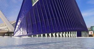 Aquarium city of art sunny day panorama 4k spain stock video