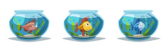 Aquarium with clear water. Cartoon vector illustration vector illustration