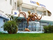 Aquarium Crete. Cretaquarium - Thalassocosmos. Crete aquarium entrance view. One of the largest and most modern aquariums in Europe. Gournes Crete island Greece Royalty Free Stock Image